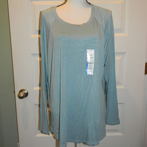 NWT TIME AND TRU BLUE RAGLAN SEMI-FITTED TOP XXXL